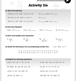 Algebra - Drill Sheets Gr. 6-8 - BONUS WORKSHEETS - Grades 6 to 8 - eBook -  Bonus Worksheets - CCP Interactive [ 1165 x 900 Pixel ]