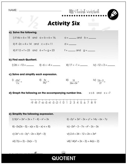 small resolution of Algebra - Drill Sheets Gr. 6-8 - BONUS WORKSHEETS - Grades 6 to 8 - eBook -  Bonus Worksheets - CCP Interactive
