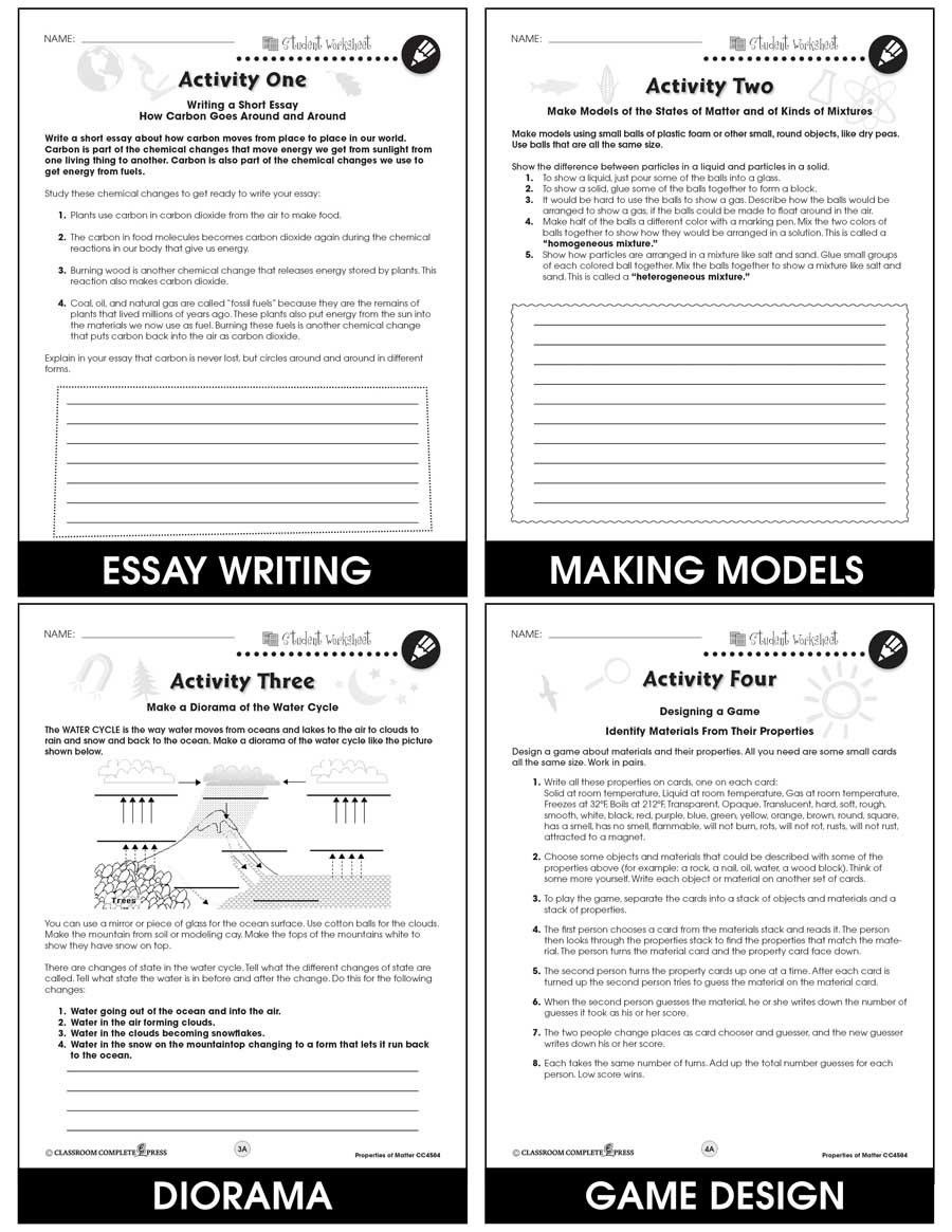 hight resolution of Properties of Matter - BONUS WORKSHEETS - Grades 5 to 8 - eBook - Bonus  Worksheets - CCP Interactive