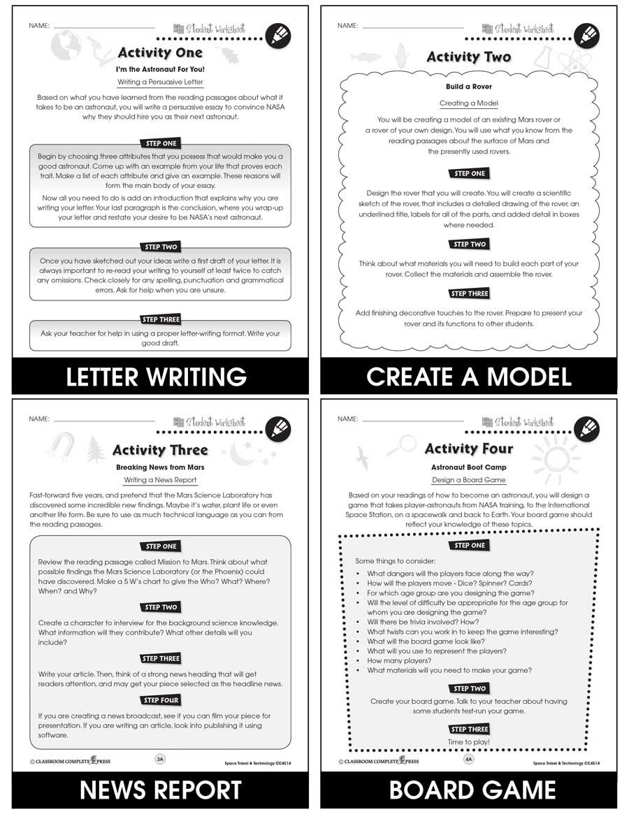 hight resolution of Space Travel \u0026 Technology - BONUS WORKSHEETS - Grades 5 to 8 - eBook -  Bonus Worksheets - CCP Interactive
