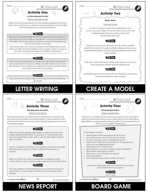 small resolution of Space Travel \u0026 Technology - BONUS WORKSHEETS - Grades 5 to 8 - eBook -  Bonus Worksheets - CCP Interactive