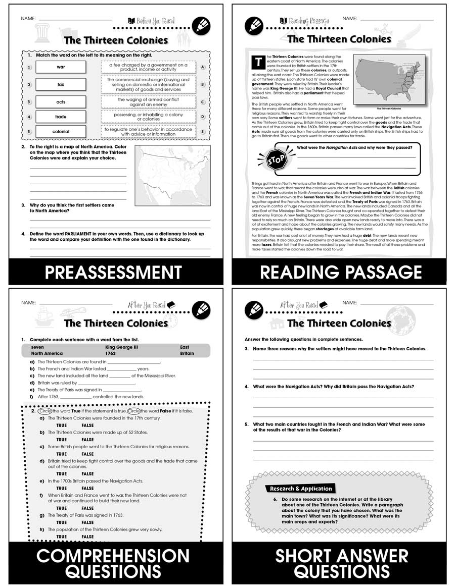 hight resolution of American Revolutionary War - Grades 5 to 8 - Print Book - Lesson Plan - CCP  Interactive