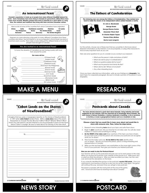 small resolution of Canadian Government - BONUS WORKSHEETS - Grades 5 to 8 - eBook - Bonus  Worksheets - CCP Interactive