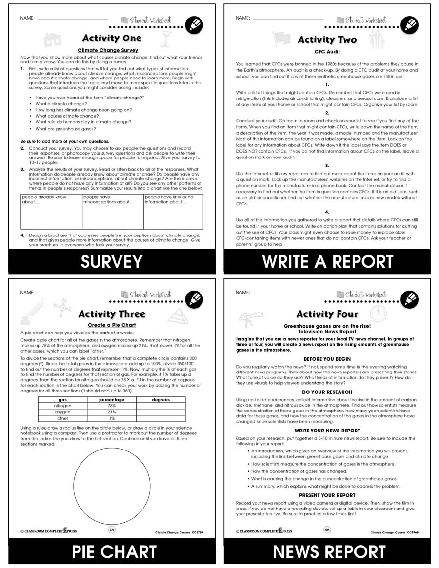 hight resolution of Climate Change: Causes - BONUS WORKSHEETS - Grades 5 to 8 - eBook - Bonus  Worksheets - CCP Interactive