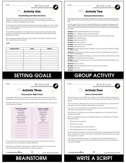 small resolution of Daily Social \u0026 Workplace Skills - BONUS WORKSHEETS - Grades 6 to 12 - eBook  - Bonus Worksheets - CCP Interactive
