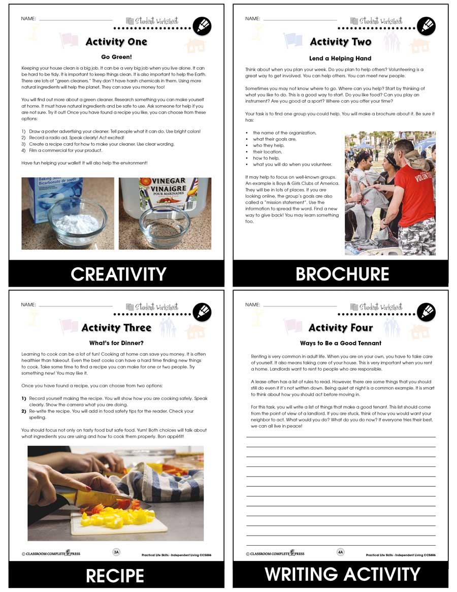 hight resolution of Practical Life Skills - Independent Living - BONUS WORKSHEETS - Grades 9 to  12+ - eBook - Bonus Worksheets - CCP Interactive