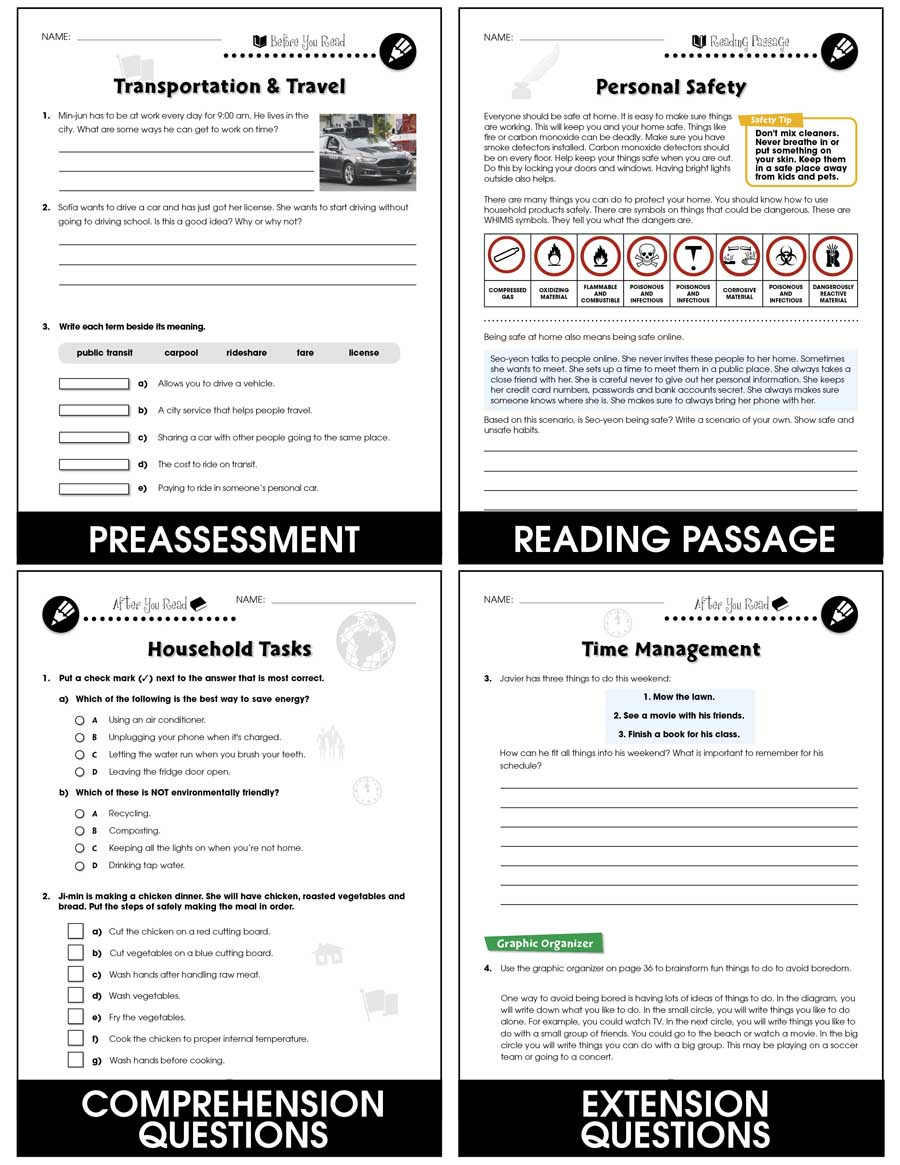 hight resolution of Practical Life Skills - Independent Living - Grades 9 to 12+ - Print Book -  Lesson Plan - CCP Interactive