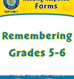 Reading Response Forms: Remembering Gr. 5-6 - Grades 5 to 6 - Lesson Plan -  Worksheets - CCP Interactive [ 1165 x 900 Pixel ]