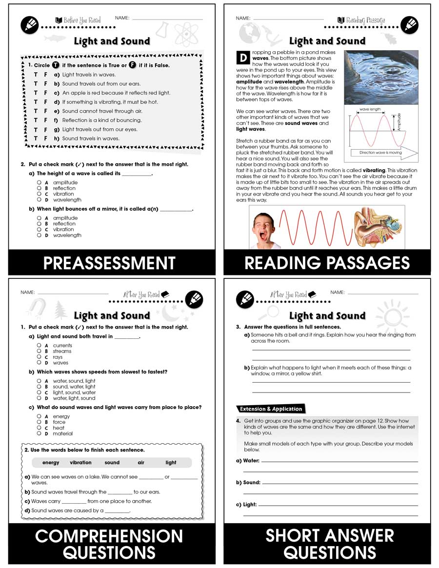 medium resolution of Hands-On - Physical Science: Light and Sound Gr. 1-5 - Grades 1 to 5 -  Lesson Plan - Worksheets - CCP Interactive