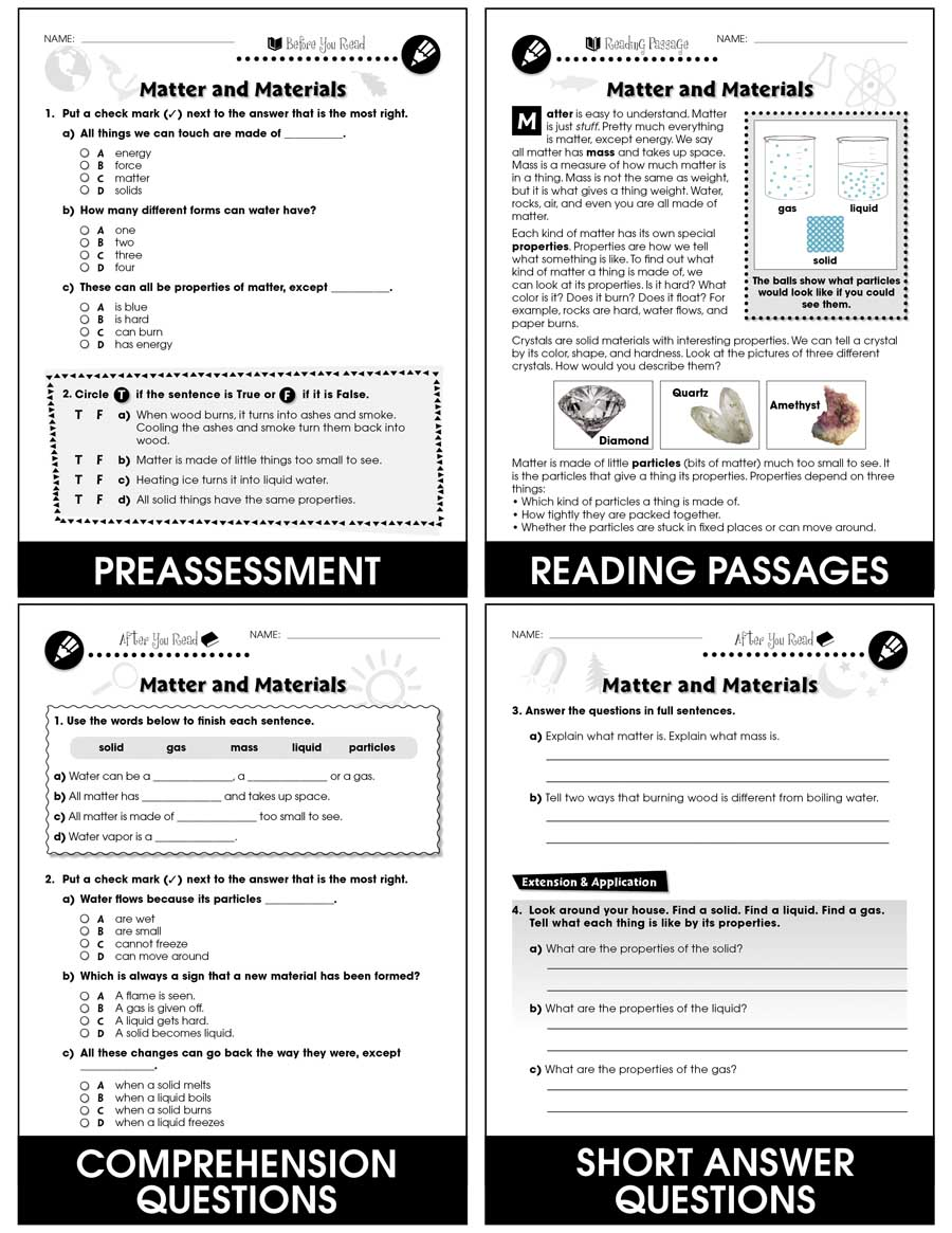 hight resolution of Hands-On - Physical Science: Matter and Materials Gr. 1-5 - Grades 1 to 5 -  Lesson Plan - Worksheets - CCP Interactive