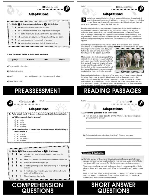 small resolution of Hands-On - Life Science: Adaptations Gr. 1-5 - Grades 1 to 5 - Lesson Plan  - Worksheets - CCP Interactive