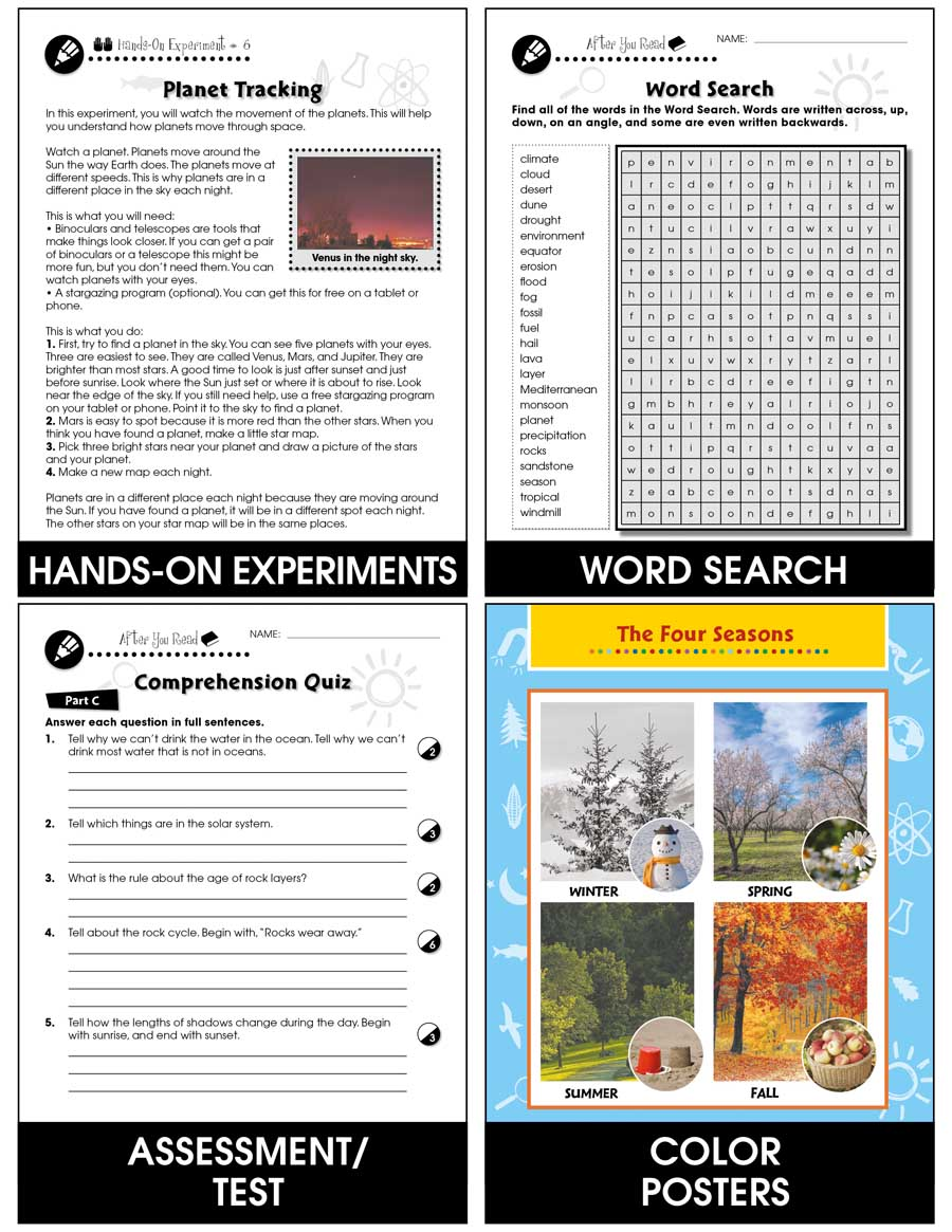 medium resolution of Hands-On - Earth \u0026 Space Science: Solar System Gr. 1-5 - Grades 1 to 5 -  Lesson Plan - Worksheets - CCP Interactive