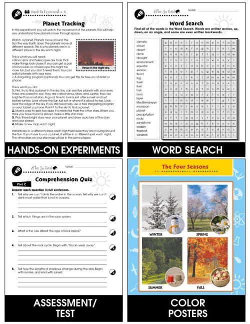 small resolution of Hands-On - Earth \u0026 Space Science: Solar System Gr. 1-5 - Grades 1 to 5 -  Lesson Plan - Worksheets - CCP Interactive