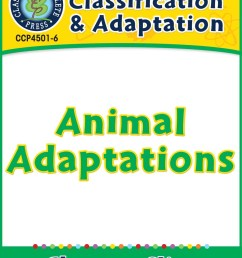 Classification \u0026 Adaptation: Animal Adaptations Gr. 5-8 - Grades 5 to 8 -  Lesson Plan - Worksheets - CCP Interactive [ 1164 x 899 Pixel ]