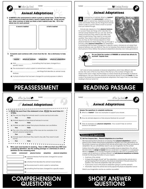 small resolution of Classification \u0026 Adaptation: Animal Adaptations Gr. 5-8 - Grades 5 to 8 -  Lesson Plan - Worksheets - CCP Interactive