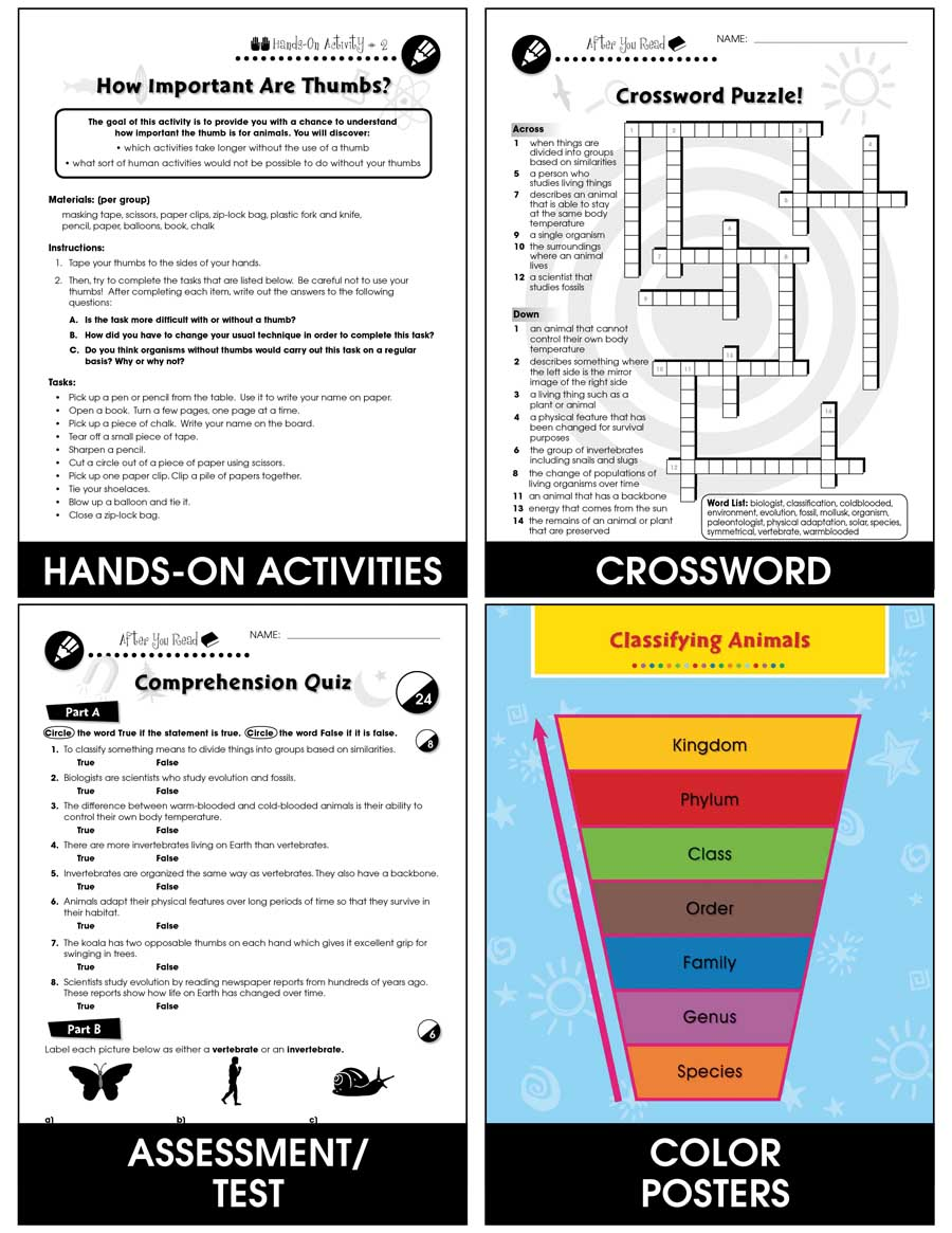 hight resolution of Classification \u0026 Adaptation: Animal Adaptations Gr. 5-8 - Grades 5 to 8 -  Lesson Plan - Worksheets - CCP Interactive
