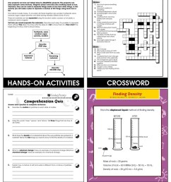 Properties of Matter: Physical Properties of Matter Gr. 5-8 - Grades 5 to 8  - Lesson Plan - Worksheets - CCP Interactive [ 1165 x 900 Pixel ]