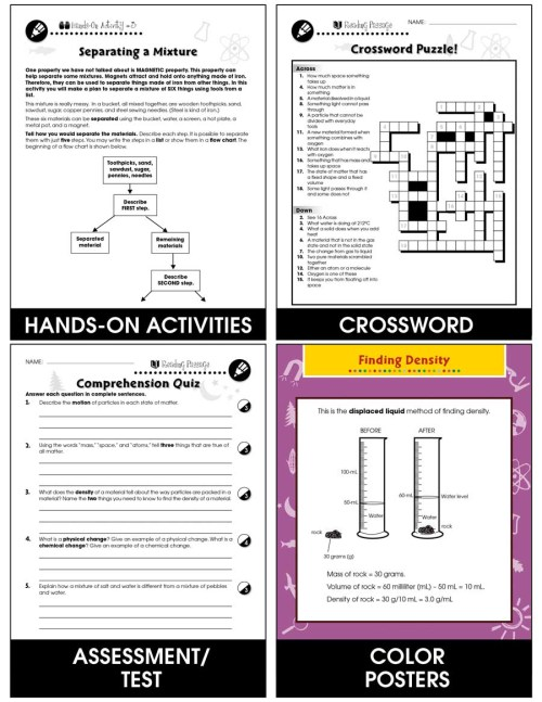 small resolution of Properties of Matter: Physical Properties of Matter Gr. 5-8 - Grades 5 to 8  - Lesson Plan - Worksheets - CCP Interactive