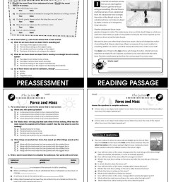 Force: Force \u0026 Mass Gr. 5-8 - Grades 5 to 8 - Lesson Plan - Worksheets -  CCP Interactive [ 1165 x 900 Pixel ]