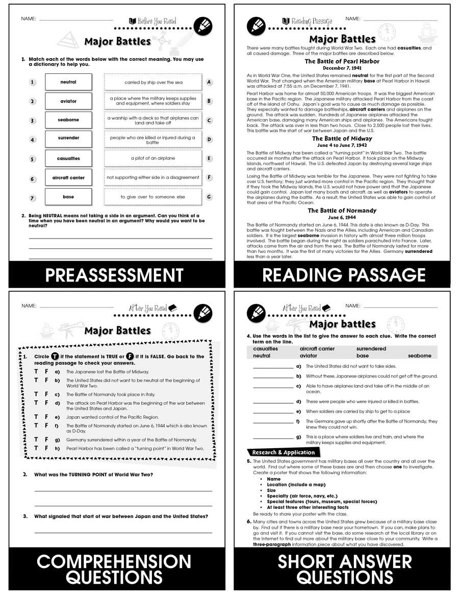 medium resolution of World War 2 - Grades 5 to 8 - eBook - Lesson Plan - CCP Interactive