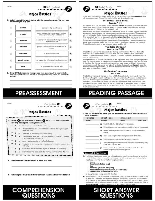 small resolution of World War 2 - Grades 5 to 8 - eBook - Lesson Plan - CCP Interactive