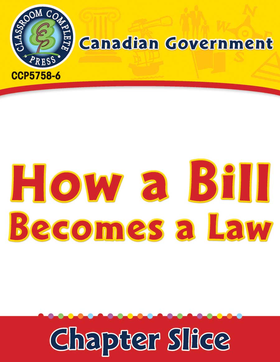 medium resolution of Canadian Government: How a Bill Becomes a Law - Grades 5 to 8 - Lesson Plan  - Worksheets - CCP Interactive