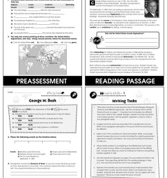 World Political Leaders: George W. Bush (United States) Gr. 5-8 - Grades 5  to 8 - Lesson Plan - Worksheets - CCP Interactive [ 1165 x 900 Pixel ]