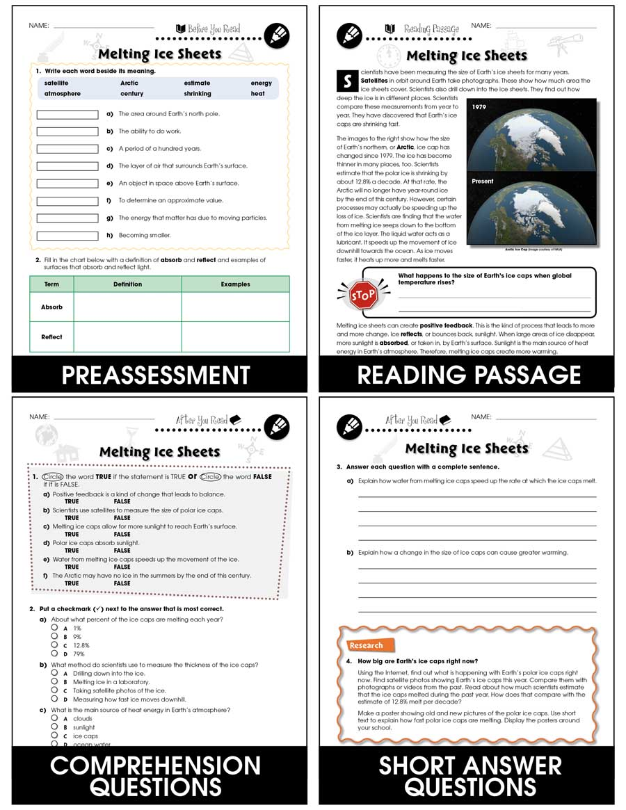 medium resolution of Climate Change: Effects: Melting Ice Sheets Gr. 5-8 - Grades 5 to 8 -  Lesson Plan - Worksheets - CCP Interactive