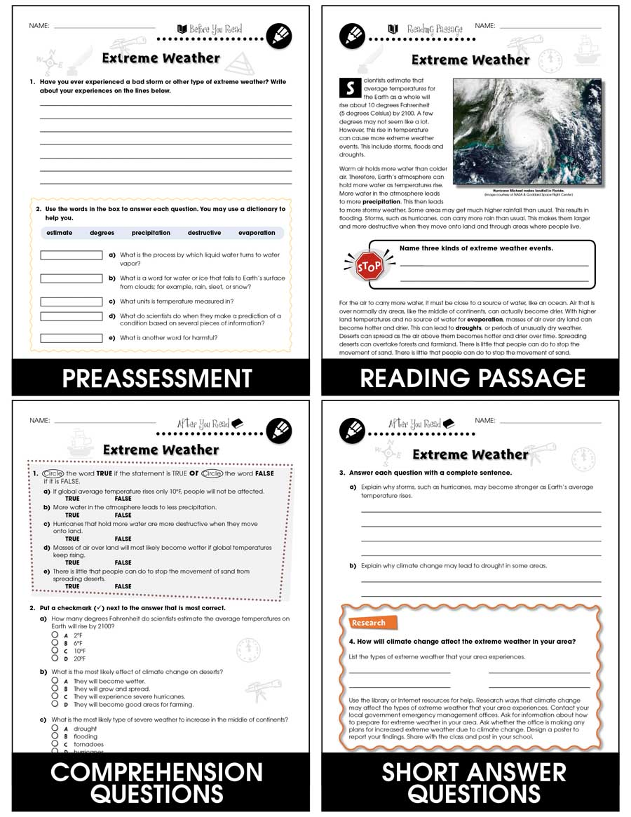 medium resolution of Climate Change: Effects: Extreme Weather Gr. 5-8 - Grades 5 to 8 - Lesson  Plan - Worksheets - CCP Interactive