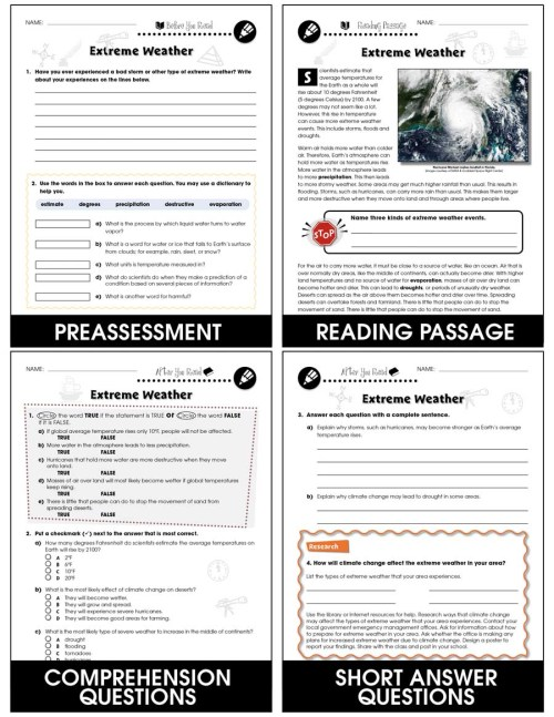 small resolution of Climate Change: Effects: Extreme Weather Gr. 5-8 - Grades 5 to 8 - Lesson  Plan - Worksheets - CCP Interactive