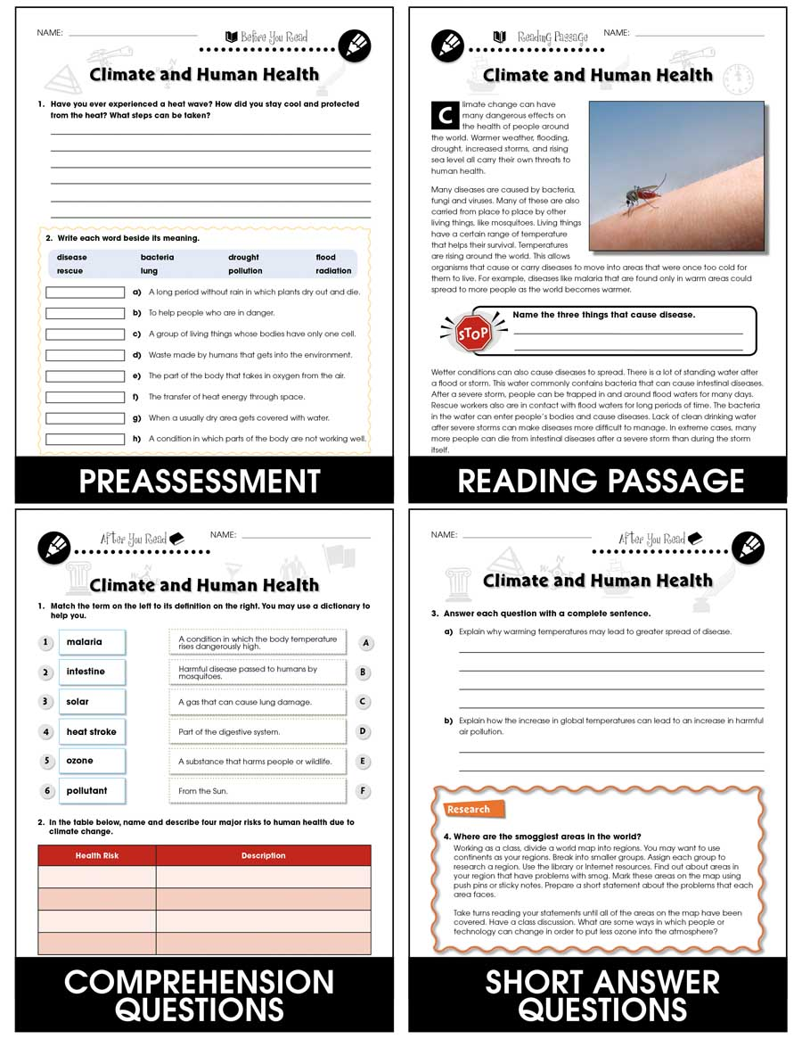 medium resolution of Climate Change: Effects: Climate and Human Health Gr. 5-8 - Grades 5 to 8 -  Lesson Plan - Worksheets - CCP Interactive