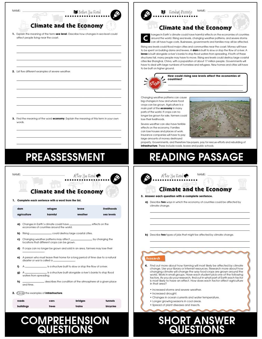 hight resolution of Climate Change: Effects: Climate and the Economy Gr. 5-8 - Grades 5 to 8 -  Lesson Plan - Worksheets - CCP Interactive