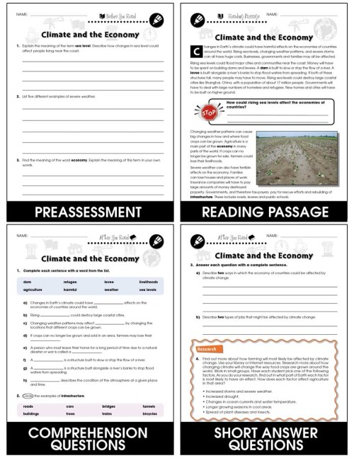 small resolution of Climate Change: Effects: Climate and the Economy Gr. 5-8 - Grades 5 to 8 -  Lesson Plan - Worksheets - CCP Interactive