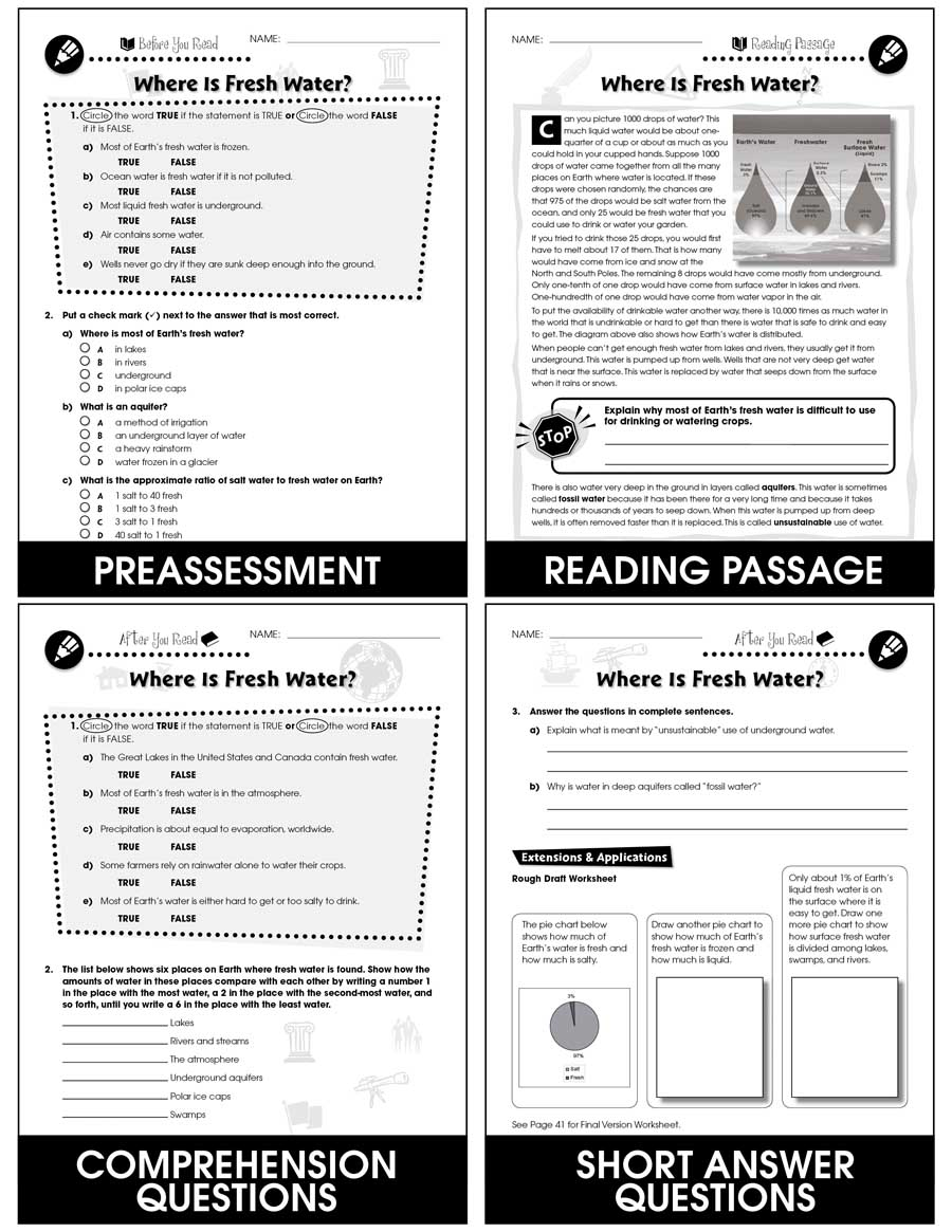 medium resolution of Conservation: Fresh Water Resources - Grades 5 to 8 - eBook - Lesson Plan -  CCP Interactive