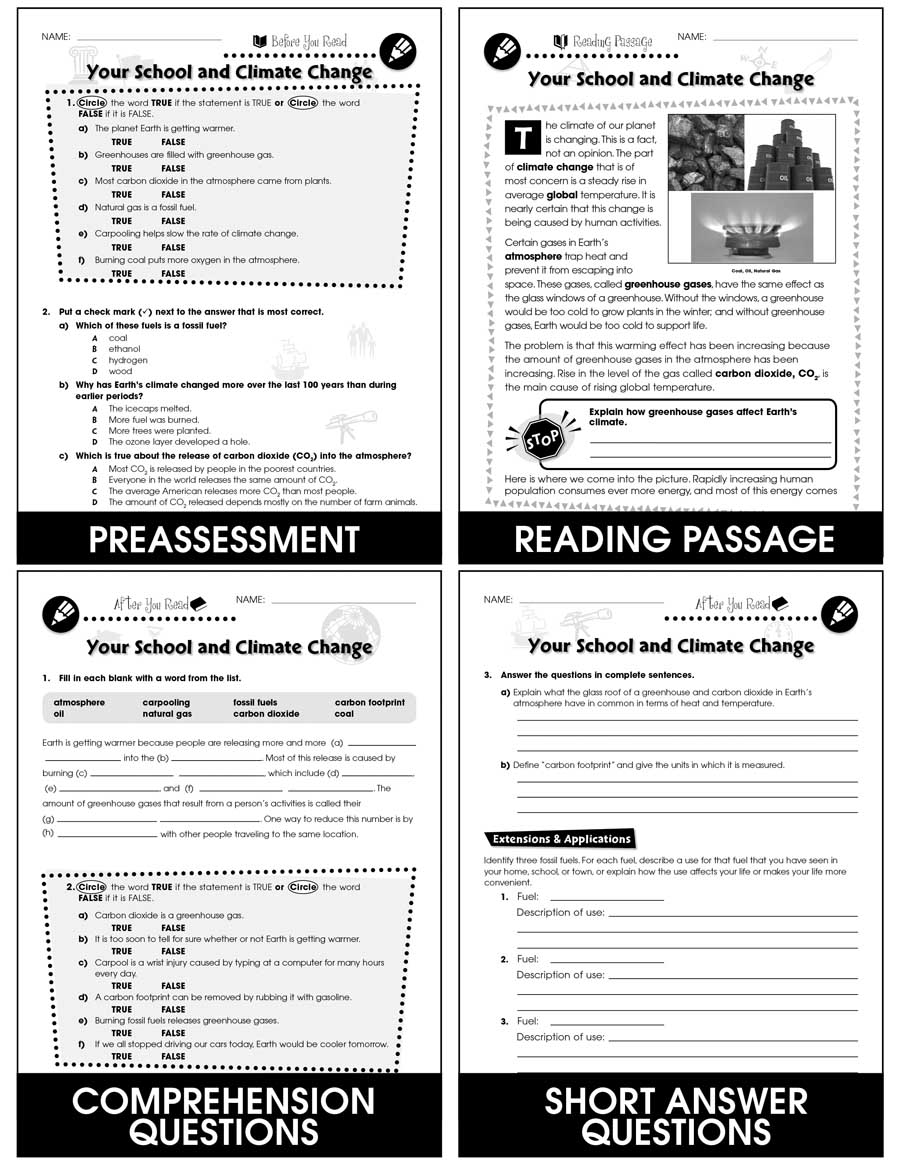 hight resolution of Reducing Your School's Carbon Footprint: Your School and Climate Change Gr.  5-8 - Grades 5 to 8 - Lesson Plan - Worksheets - CCP Interactive