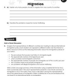 Economy \u0026 Globalization: Human Migration - WORKSHEETS - Grades 5 to 8 -  eBook - Worksheets - CCP Interactive [ 1165 x 900 Pixel ]