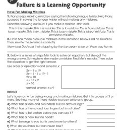 Learning Skills for Global Competency: Have Fun Making Mistakes - WORKSHEETS  - Grades 3 to 12 - eBook - Worksheets - CCP Interactive [ 1165 x 900 Pixel ]