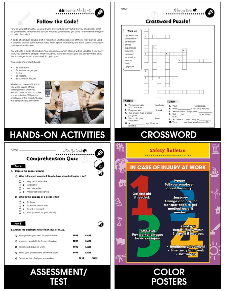 hight resolution of Employment \u0026 Volunteering: Thriving on the Job Gr. 9-12+ - Grades 9 to 12+  - Lesson Plan - Worksheets - CCP Interactive