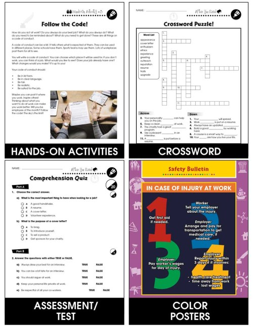 small resolution of Employment \u0026 Volunteering: Thriving on the Job Gr. 9-12+ - Grades 9 to 12+  - Lesson Plan - Worksheets - CCP Interactive