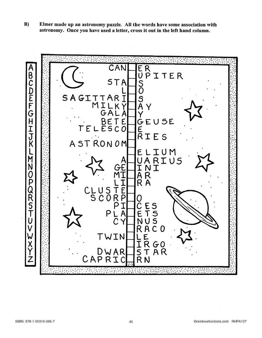 Something Fishy at Macdonald Hall (Novel Study): Astronomy