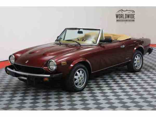Classic Fiat Spider for Sale on ClassicCarscom 22 Available