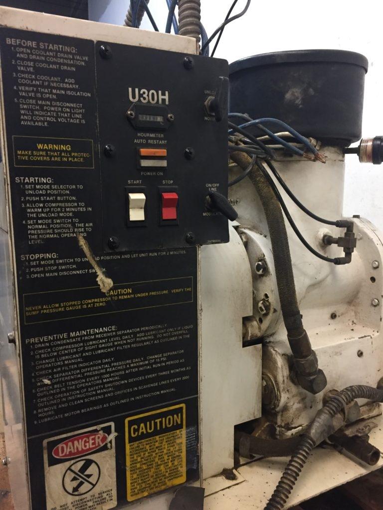 medium resolution of ingersoll rand rotary screw compressor u30h