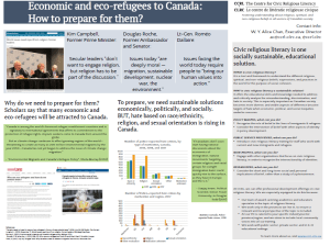 """Economic and eco-refugees to Canada: How to prepare for them."""