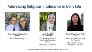"""Addressing Religious Intolerance in Daily Life."" Our Whole Society Conference"