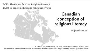 """A Canadian conception of religious literacy."" Comparative and International Education Society conference"