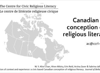 """""""A Canadian conception of religious literacy."""" Comparative and International Education Society conference"""