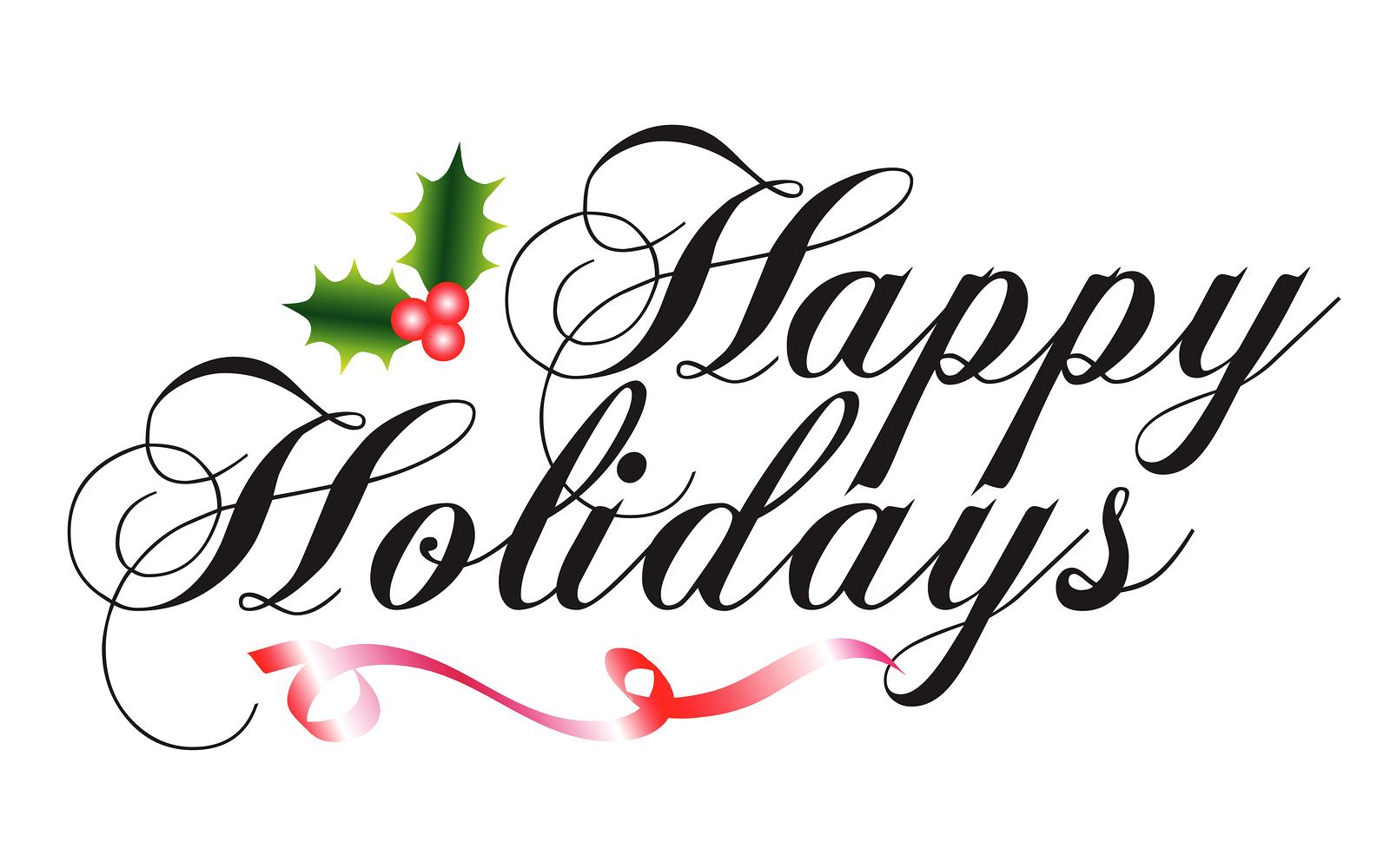Bigstock Happy Holidays Type