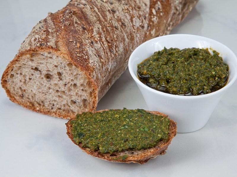 Bread and pesto