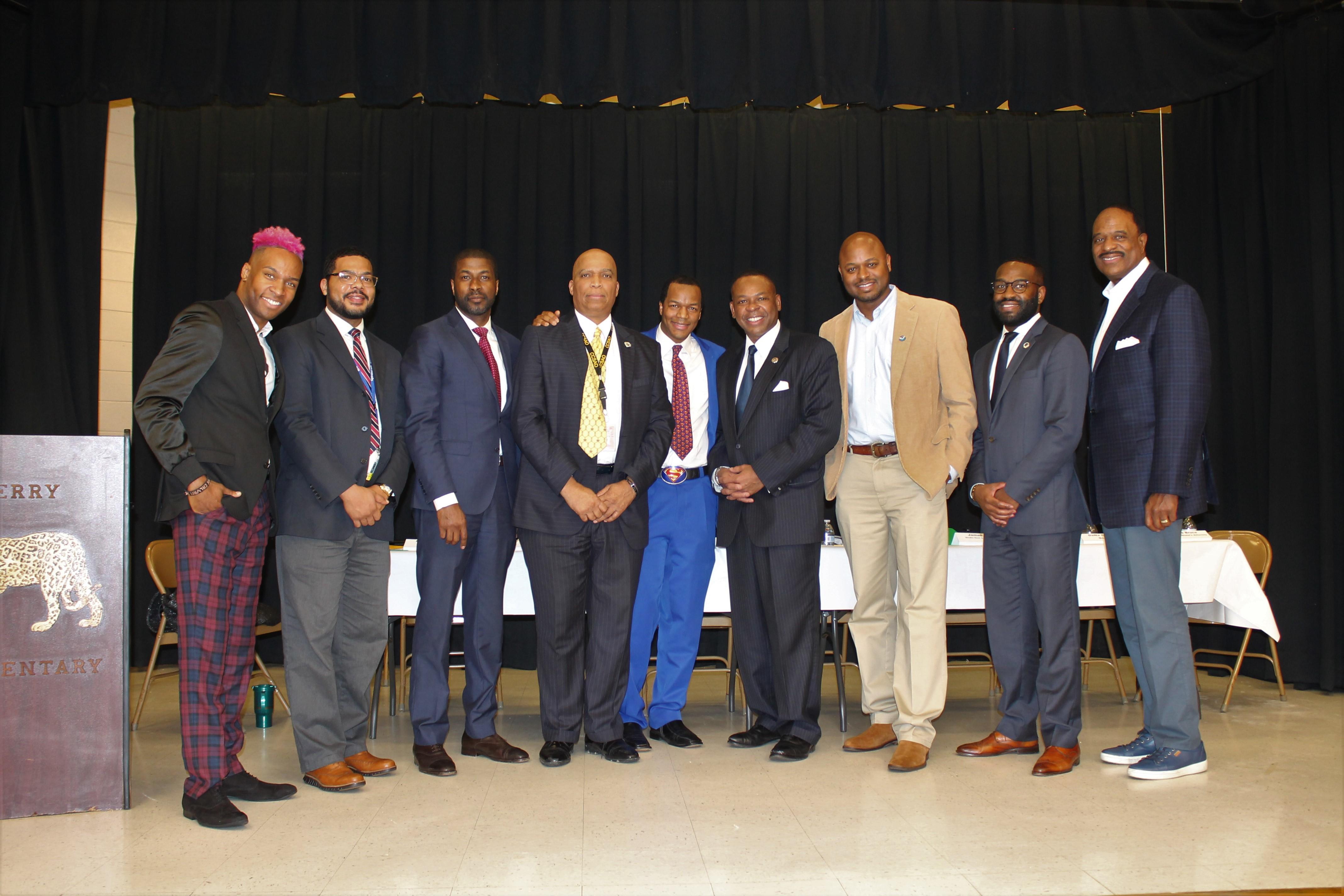 Black History Panel At Berry Elementary School