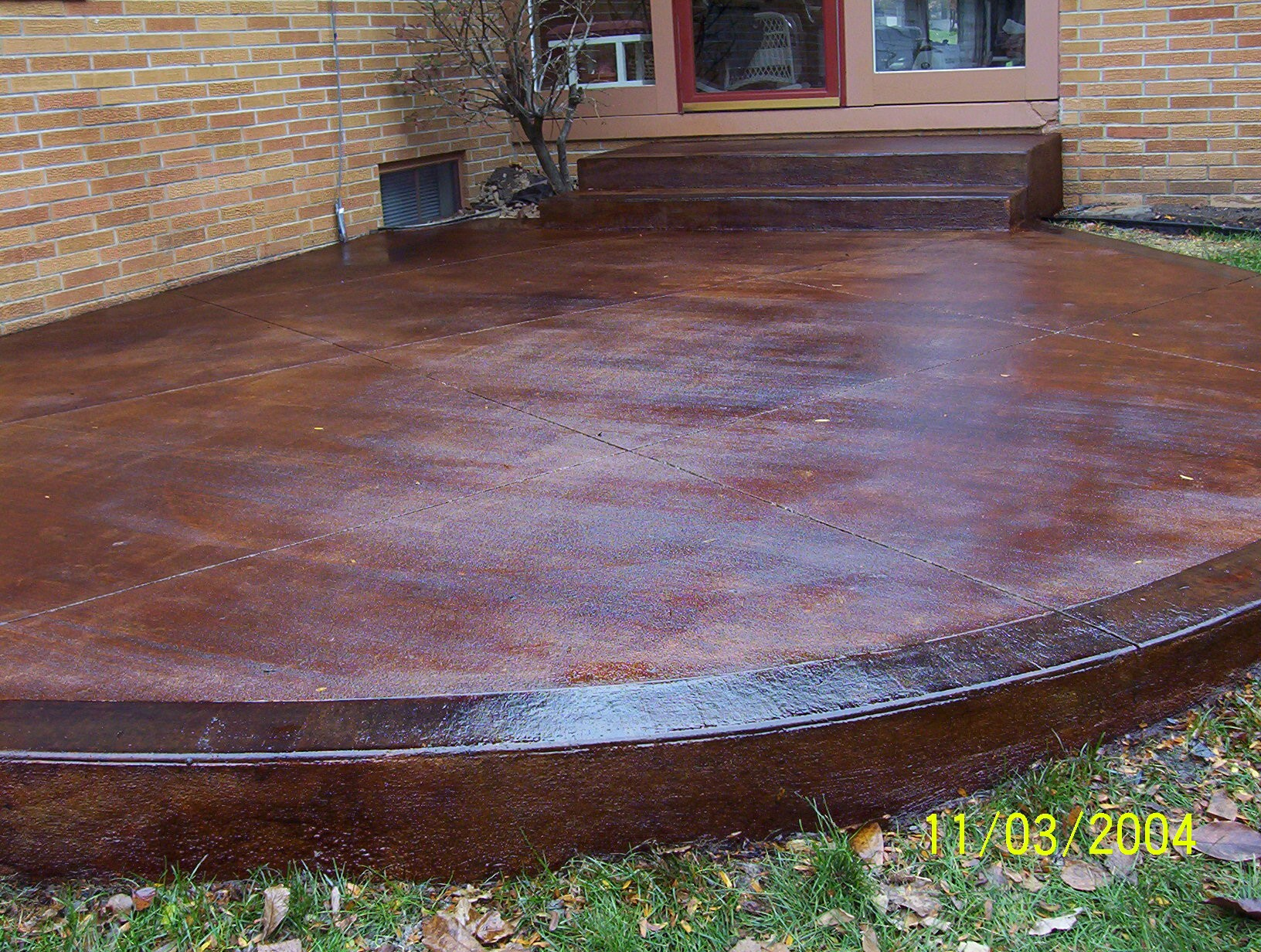 Stained Concrete Patio Care